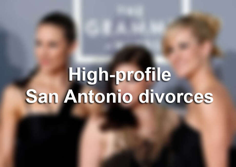 Click through for a look at the famous couples who have filed for divorce in San Antonio. Photo: SAEN