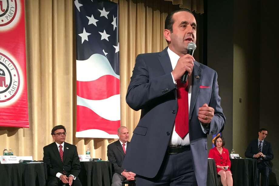 Peter Lumaj speaks during the Connecticut GOP Gubernatorial Debate held in Hebron, Conn. Jan. 10, 2018. Photo: Dan Haar / Hearst Connecticut Media / Hearst Connecticut Media