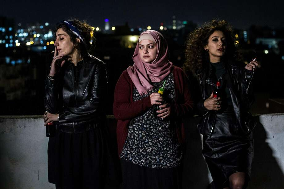 """In Between"" features Mouna Hawa (left), Shaden Kanboura and Sana Jammelieh as Palestinian women making their way in a modern but male-dominated world. Photo: Yaniv Berman, Film Movement"