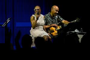 Dee Dee Bridgewater performs with guitarist, Charlton Johnson, at the SFJAZZ Center in San Francisco, Calif. Thursday, September 7, 2017.