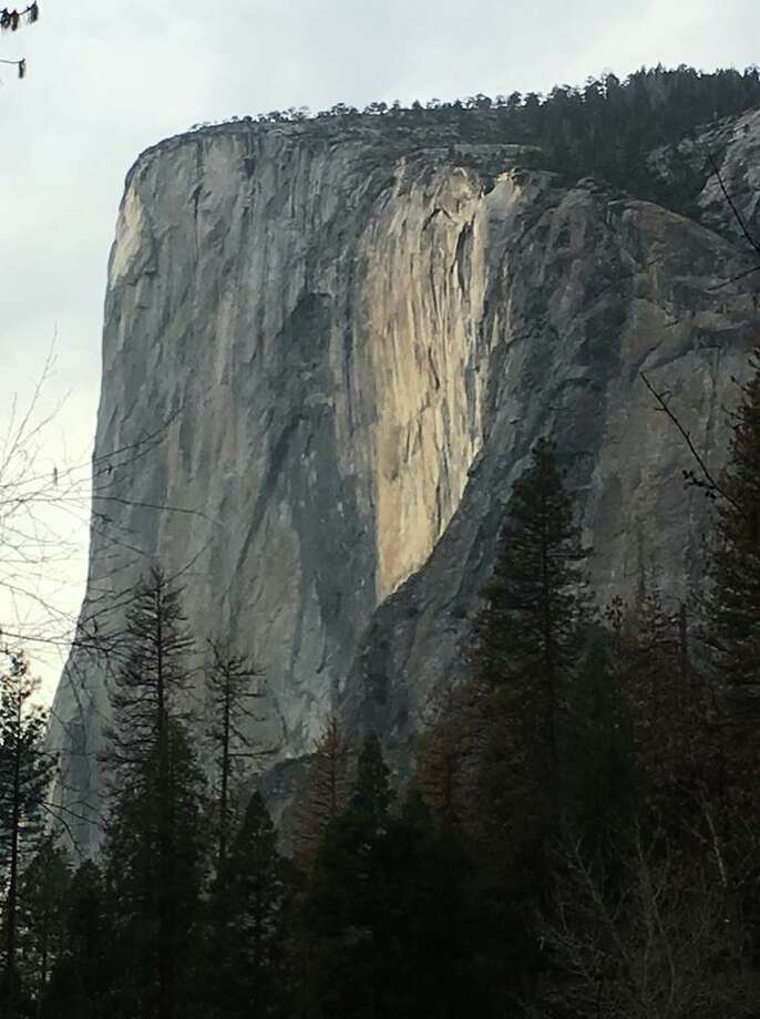Horsefail Fall was running dry on Feb. 12, 2018. CLICK THROUGH TO SEE PHOTOS OF THE FIREFALL IN PREVIOUS YEARS. Photo: Yosemite National Park