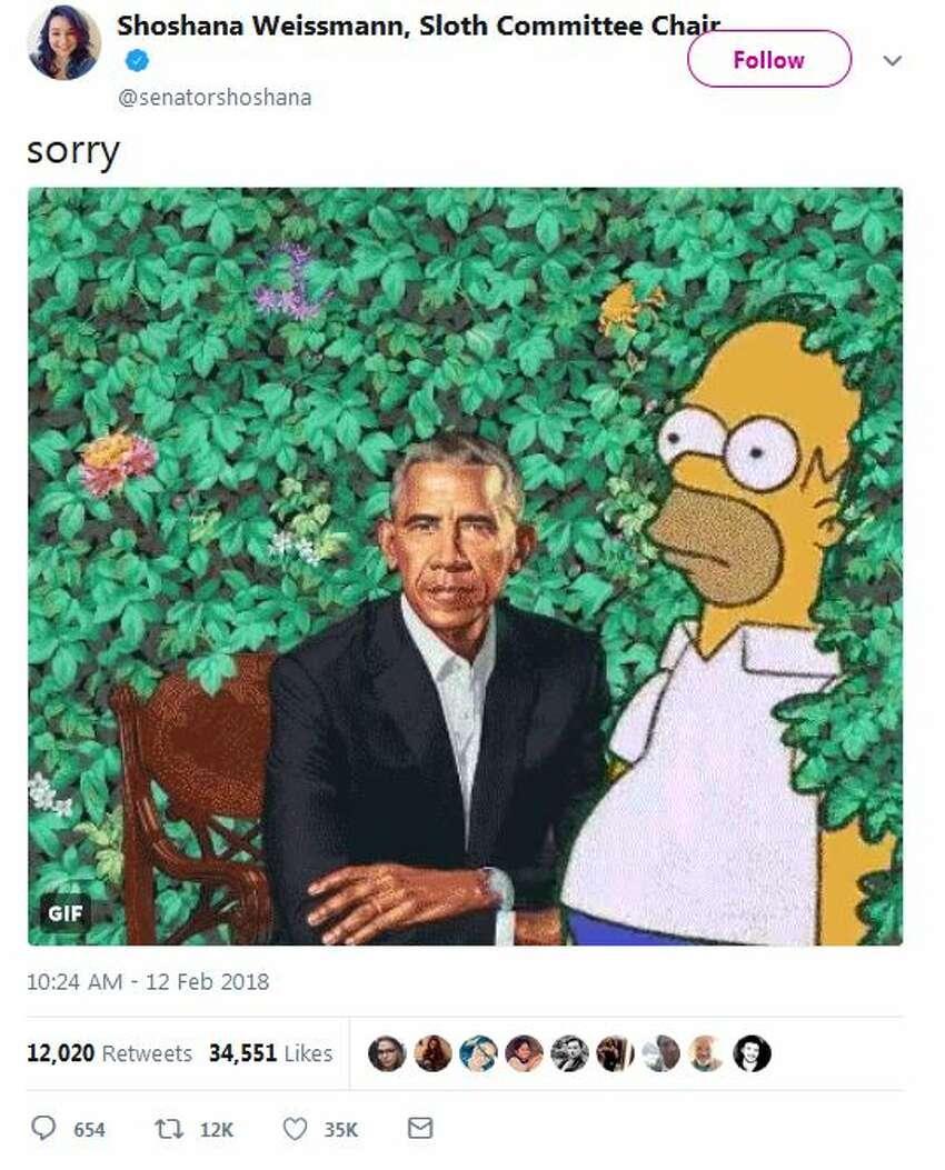 @senatorshoshana: sorry