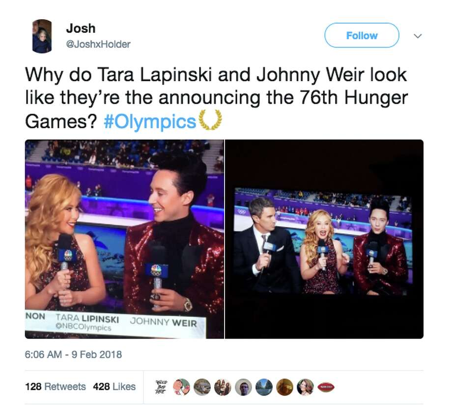 Johnny Weir's flashy fashion sense is again drawing attention at the Pyeongchang Olympics. Photo: Screenshot Via Twitter