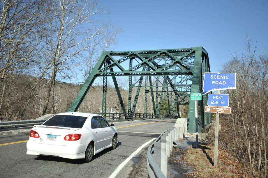 The Pleasant Valley Bridge in Barkhamsted, as seen Monday. Photo: Ben Lambert / Hearst Connecticut Media