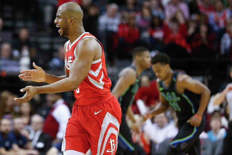 Guard  Chris Paul applauds the All-Star break rest the Rockets have gotten. They return to the floor Friday at Toyota Center against the T-Wolves. Photo: Michael Ciaglo, Houston Chronicle / Michael Ciaglo