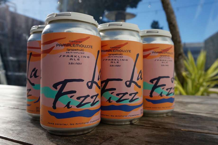 La Fizz, a sparkling ale from Temescal Brewing inspired by LaCroix sparkling water. Photo: Temescal Brewing