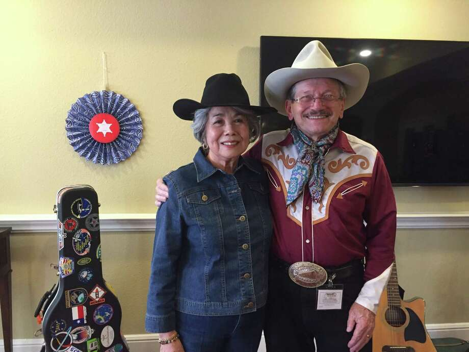 John Pickul will perform Feb. 23 at a Go Texan Day party at The Abbey at Westminster Plaza. Pickul is a frequent performer at Taste of Texas. Pickul is shown with Kay Guntner. Photo: Courtesy Of The Abbey At Westminster Plaza