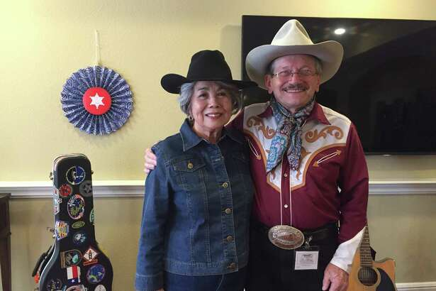 John Pickul will perform Feb. 23 at a Go Texan Day party at The Abbey at Westminster Plaza. Pickul is a frequent performer at Taste of Texas. Pickul is shown with Kay Guntner.