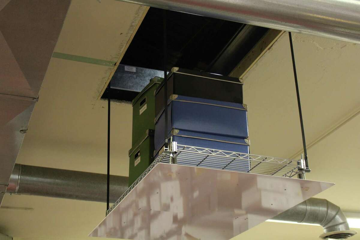The SpaceLift was designed to make storing boxes and other items in the attic easier and safer for homeowners.