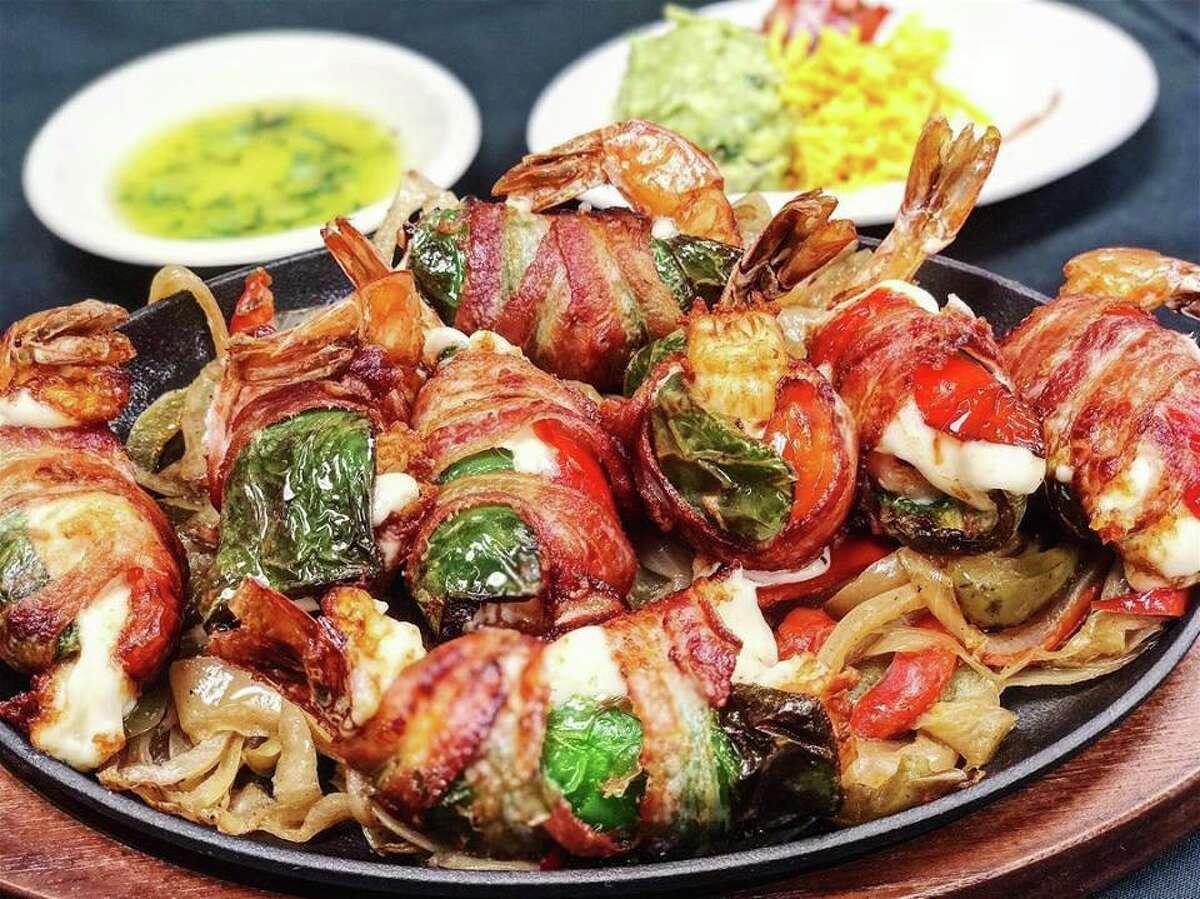 Shrimp brochette at Tito's Cantina