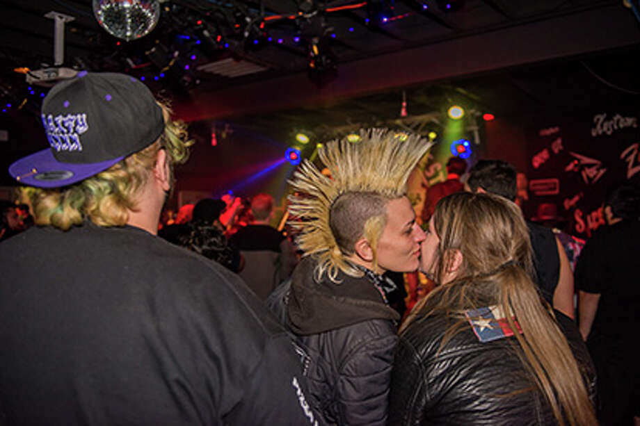"Pinata Protest brought its eccentric Tex-Mex punk scene to the Amp Room on Sunday, Feb. 11, 2018 for a video shoot. Fans hit the St. Mary's Strip with ""super punk or super cowboy"" duds to be featured in the video. Photo: Photo: Kody Melton, For MySA.com"
