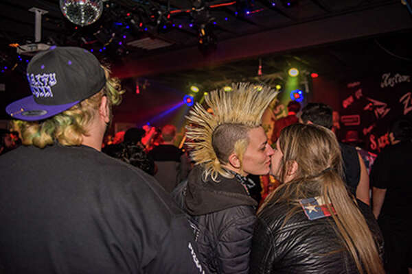 "Pinata Protest brought its eccentric Tex-Mex punk scene to the Amp Room on Sunday, Feb. 11, 2018 for a video shoot. Fans hit the St. Mary's Strip with ""super punk or super cowboy"" duds to be featured in the video."