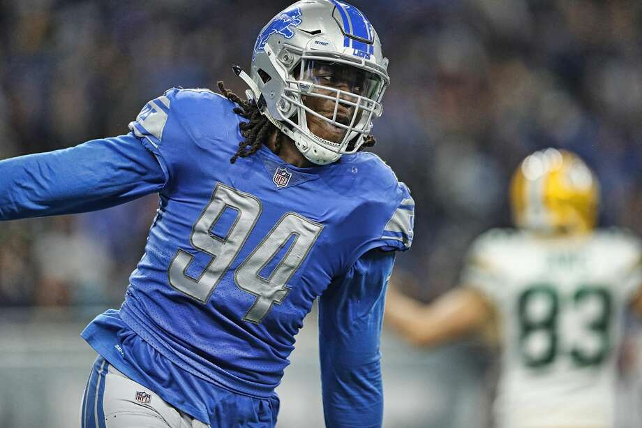 """Ezekiel """"Ziggy"""" Ansah, defensive end  I mentioned Ansah in an early free agency piece, and he's still available. The fact he remains on the market is shocking, and also not so shocking considering his injury history. Ansah has reportedly visited with the Bills and Saints, but teams have had concerns about the shoulder injury that held to seven games in 2018 on the franchise tag.  If he's healthy, there's no denying what he brings pass rusher. Ansah has double-digit sack potential. The Seahawks need more quarterback disruptors to help Frank Clark and Jarran Reed. Photo: Leon Halip/Getty Images"""