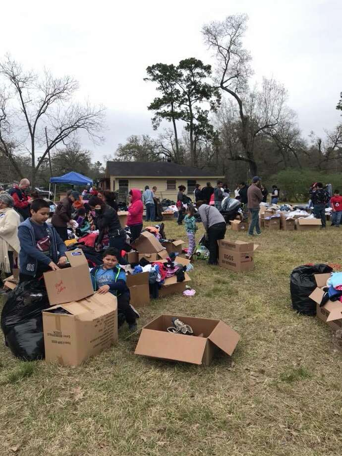 "A Woodlands woman who's been leading an effort to help Hurricane Harvey victims has scheduled what she's describing as the ""final big distribution"" day for Sunday. Photo: Handout: Christine Clinkenbeard"
