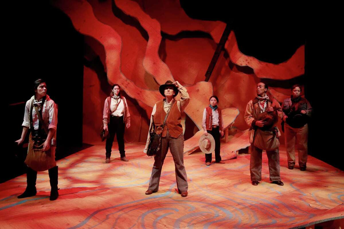 """The cast of """"Men on Boats"""" takes theatergoers on an adventure along the Colorado River."""