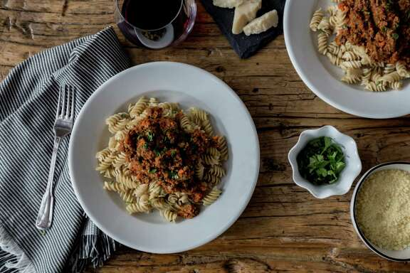 Weeknight Bolognese Sauce by Houston food writer and cooking instructor Marcia Smart.