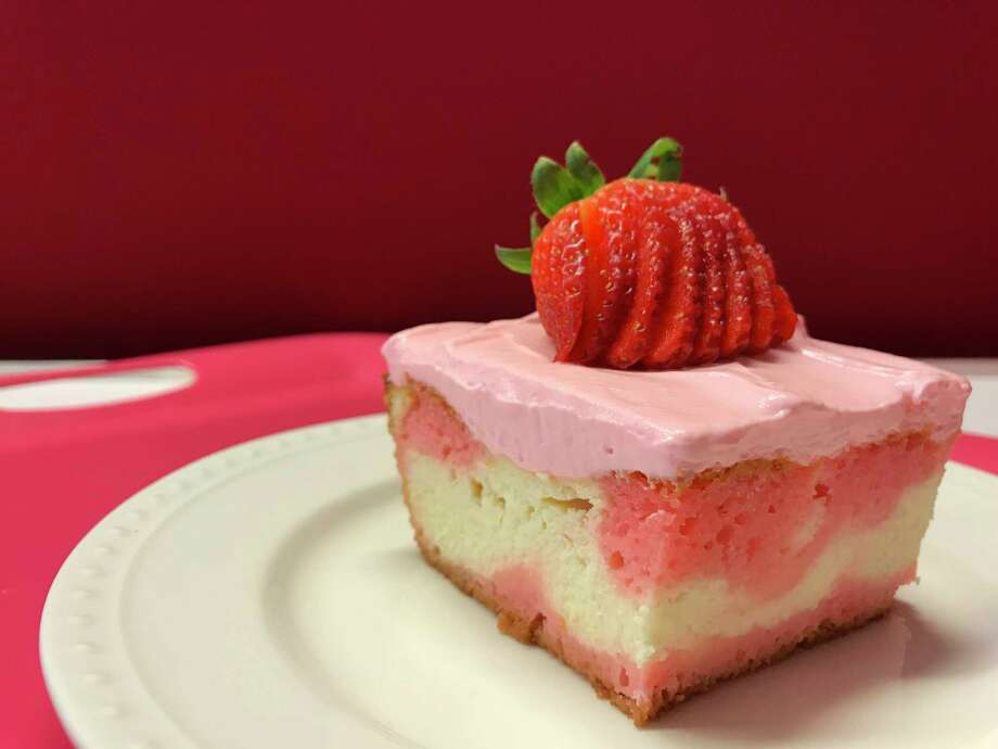 Strawberry Love Cake from Food Network star and cookbook author Valerie Bertinelli. Photo: Greg Morago