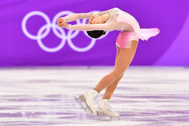 Japan's Satoko Miyahara competes in the figure skating team event women's single skating short program during the Pyeongchang 2018 Winter Olympic Games at the Gangneung Ice Arena in Gangneung on February 11, 2018. Photo: MLADEN ANTONOV/AFP/Getty Images