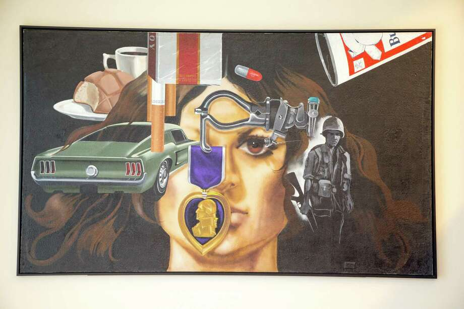 """Jesse Trevino's autobiographical mural """"Mi Vida,"""" which he painted on the wall of his home while dealing with injuries he sustained in the Vietnam War, can be found on the ballroom level of the Convention Center. Photo: Courtesy Department Of Arts And Culture / courtesy City of San Antonio"""