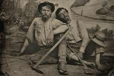 Portrait of an unidentified pair of prospectors. c. 1860.  Photos courtesy RVB Books/Canadian Photography Institute