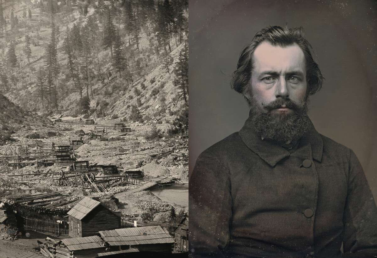 Left: Unknown photographer. Outdoor view of mining operations. c. 1856. Right: Portrait of Henry Hobart Stiles by Charles F. Hamilton. c. 1854. Photos courtesy RVB Books/Canadian Photography Institute