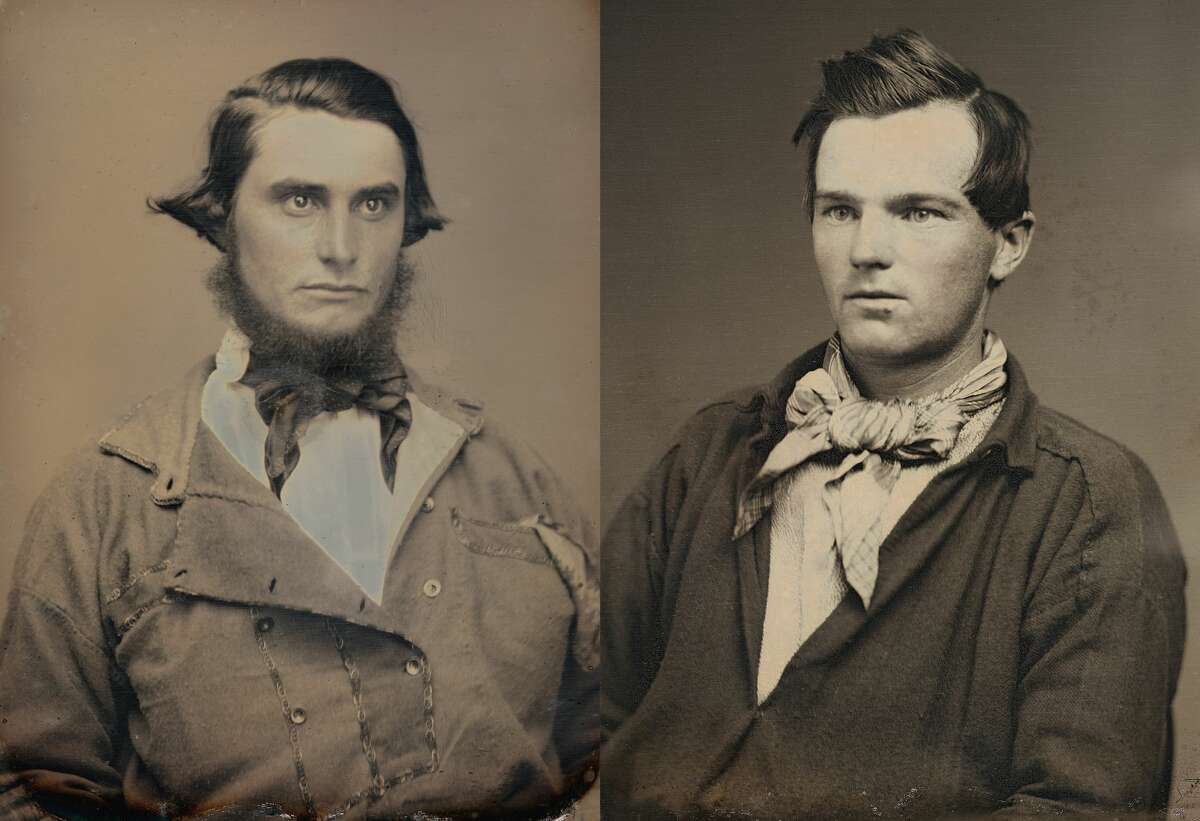 Left: Portrait of a young man by Abraham Bogardus. c. 1852. Right: Portrait of an unidentified miner by Robert H. Vance. . 1852. Photos courtesy RVB Books/Canadian Photography Institute