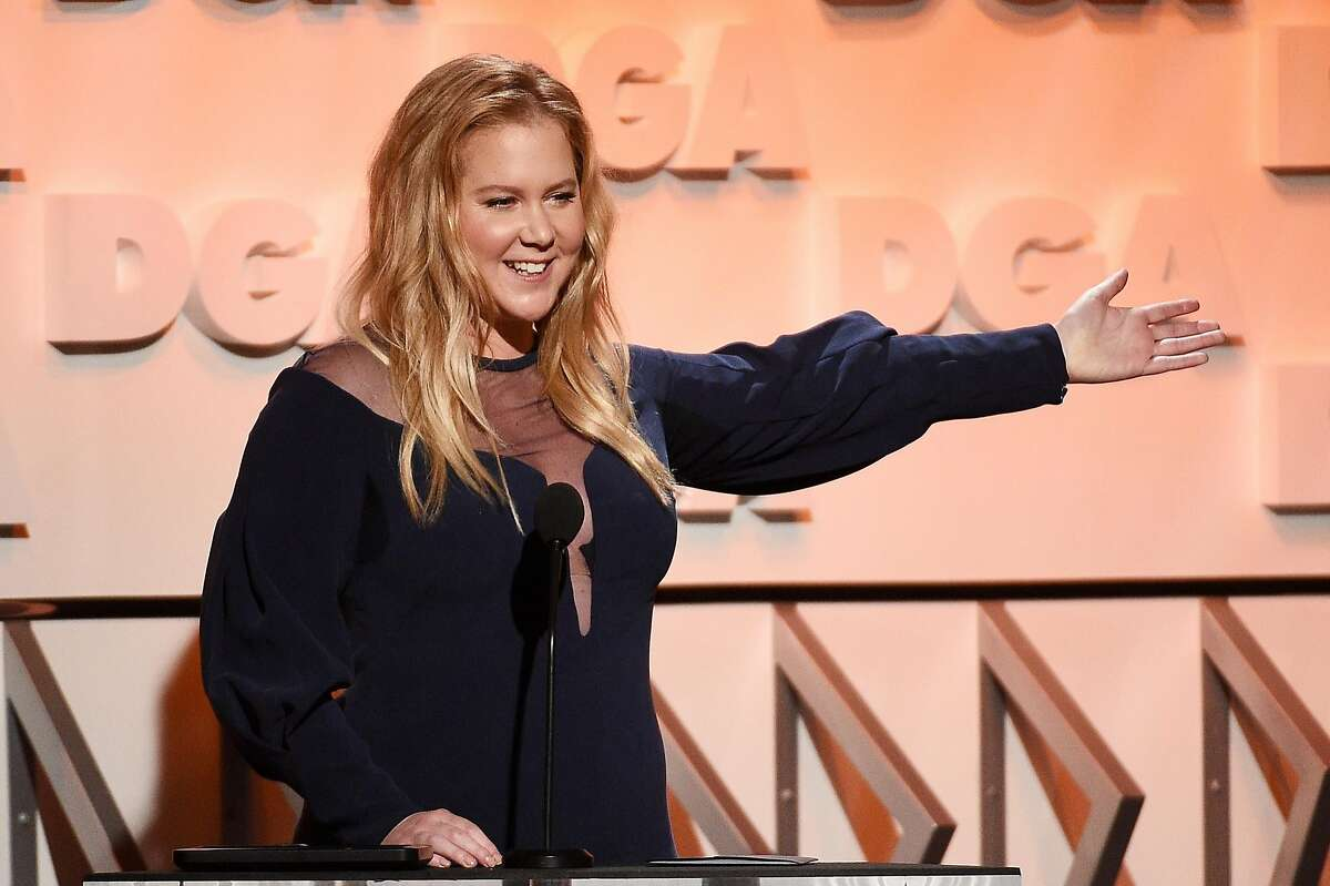 BEVERLY HILLS, CA - FEBRUARY 03: Comedian Amy Schumer speaks onstage during the 70th Annual Directors Guild Of America Awards at The Beverly Hilton Hotel on February 3, 2018 in Beverly Hills, California. (Photo by Kevork Djansezian/Getty Images for DGA)