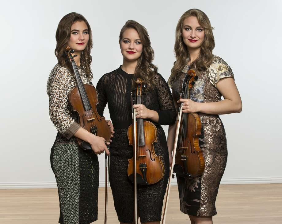 The Quebe sisters, Grace, Sophia and Hulda Quebe, from Burleson, Texas, have family connections in Plainview. These outstanding singers and fiddle players will perform at 7:30 p.m. Monday, Feb. 19, at the Harral Auditorium on WBU campus. Photo: Courtesy Photo