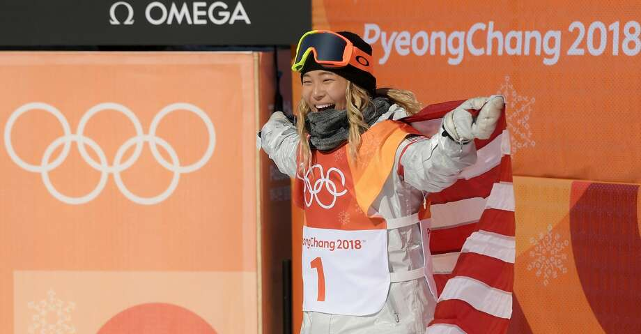 PYEONGCHANG-GUN, SOUTH KOREA - FEBRUARY 13:  Gold medalist Chloe Kim of the United States celebrates winning the Snowboard Ladies' Halfpipe Final on day four of the PyeongChang 2018 Winter Olympic Games at Phoenix Snow Park on February 13, 2018 in Pyeongchang-gun, South Korea.  (Photo by David Ramos/Getty Images) Photo: David Ramos/Getty Images