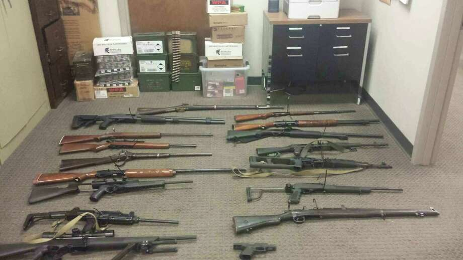 Norwell Therien allegedly had illegal guns and drugs in his Orange County home. Photo: New York State Police