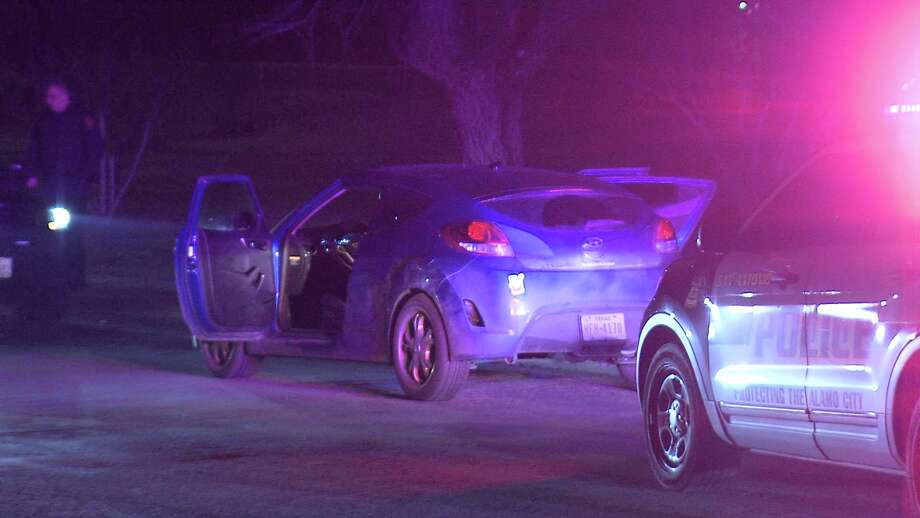 The chase began around 11:15 p.m. at Zarzamora Road and Interstate 35 when a police officer in the area heard gunshots coming from a blue sedan. Photo: Ken Branca