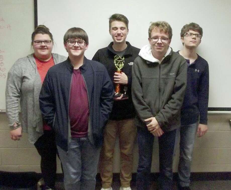The Bad Axe quiz bowl team. (Submitted photo)