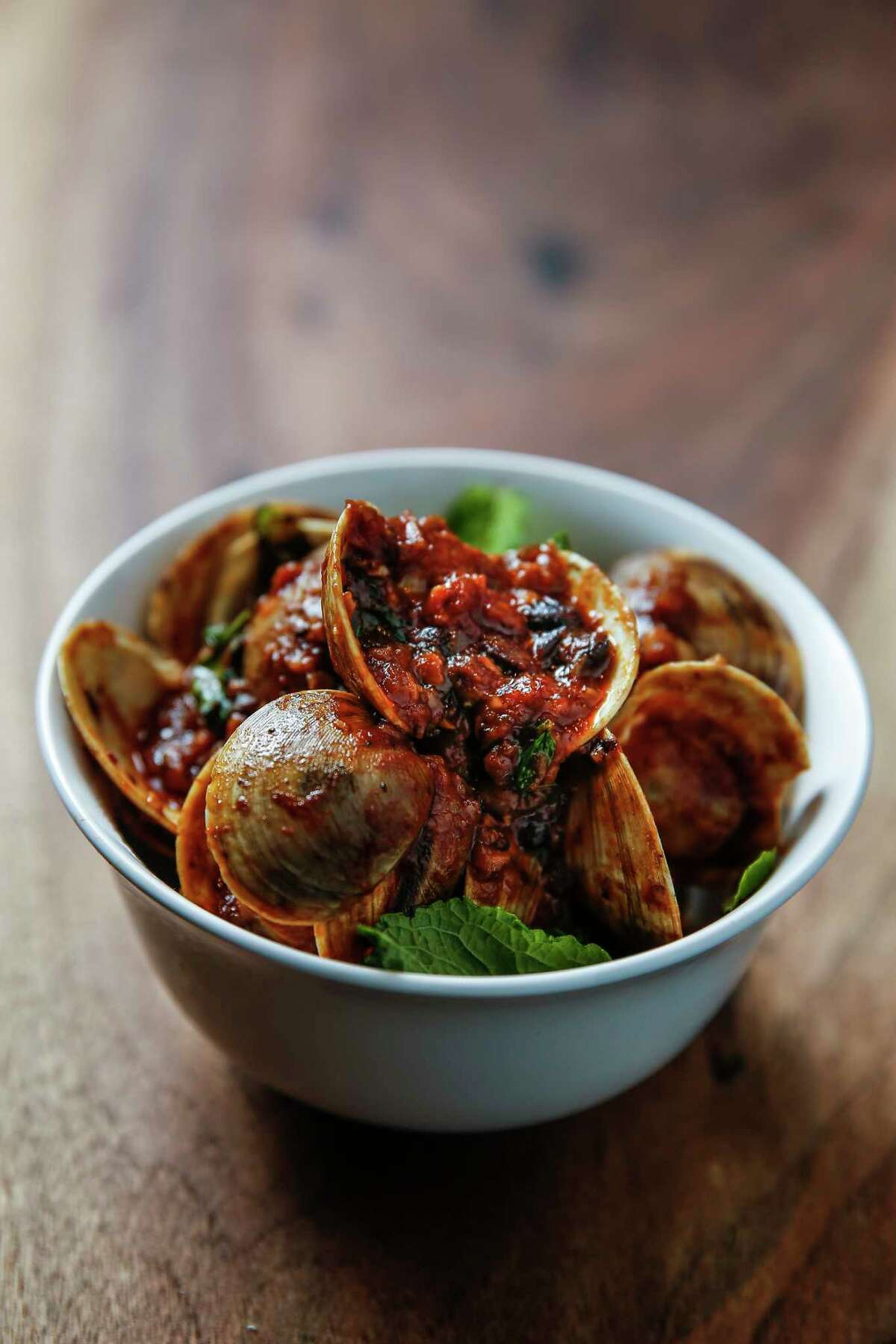 The Singapore Chili Clams at Night Heron in Montrose.