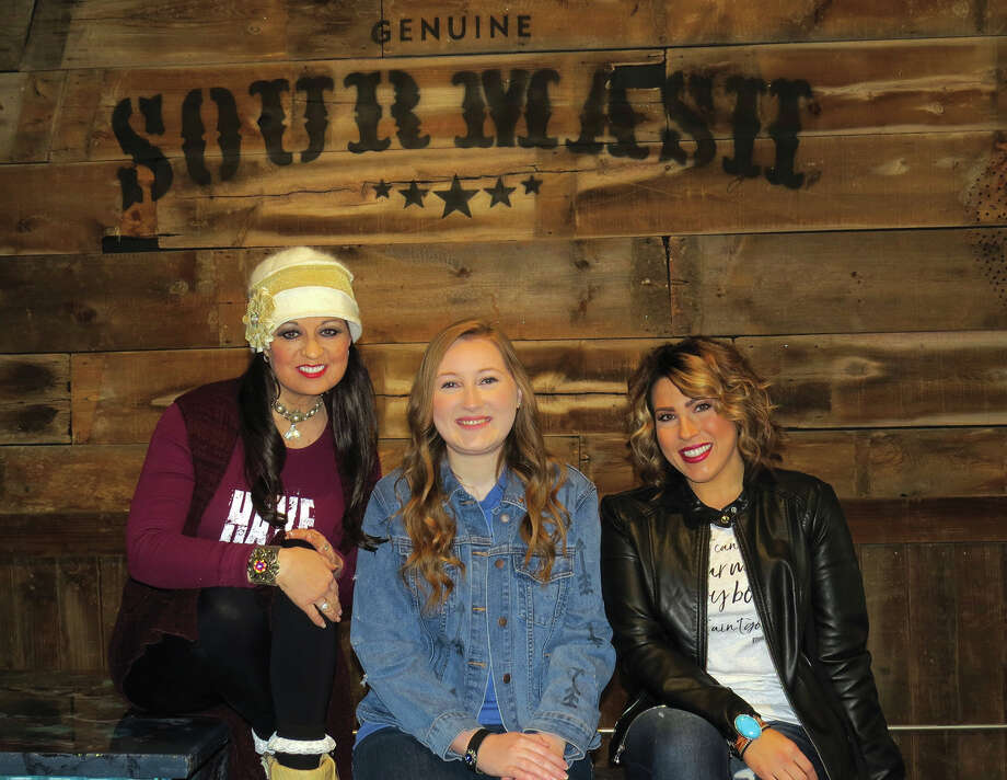 Owner Kenneathia Williams with Emily Whitaker and Cindy McCalla at Sour Mash in downtown Edwardsville. Photo: Carol Arnett • Carnett.edwi@gmail.com