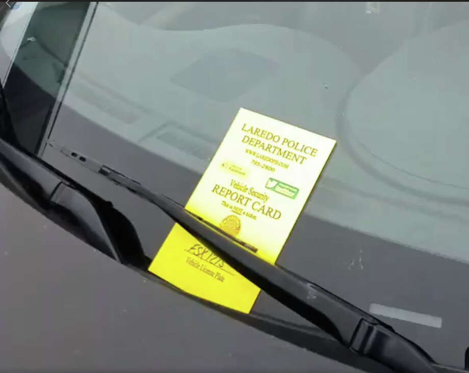 LPD is issuing vehicle security report cards to cut down on auto theft and burglaries. Photo: Laredo Police Department