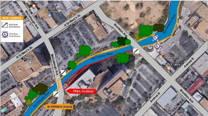 Portion Of River Walk Trail Closed Until Further Notice