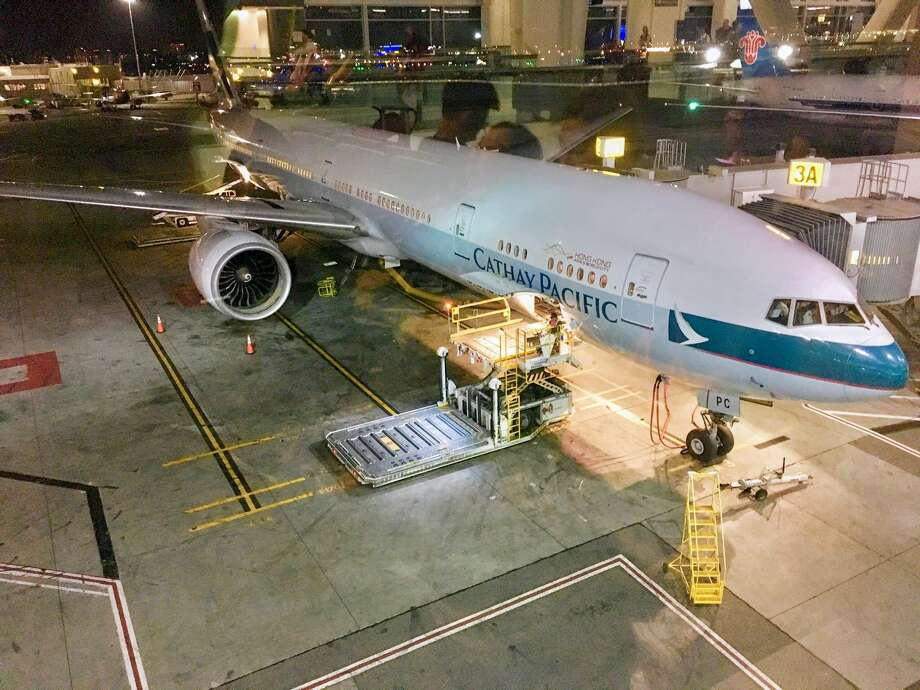 Cathay Pacific Boeing 777-300ER at SFO- important to note that there are two versions of this jet on the route Photo: Jason Vaudrey