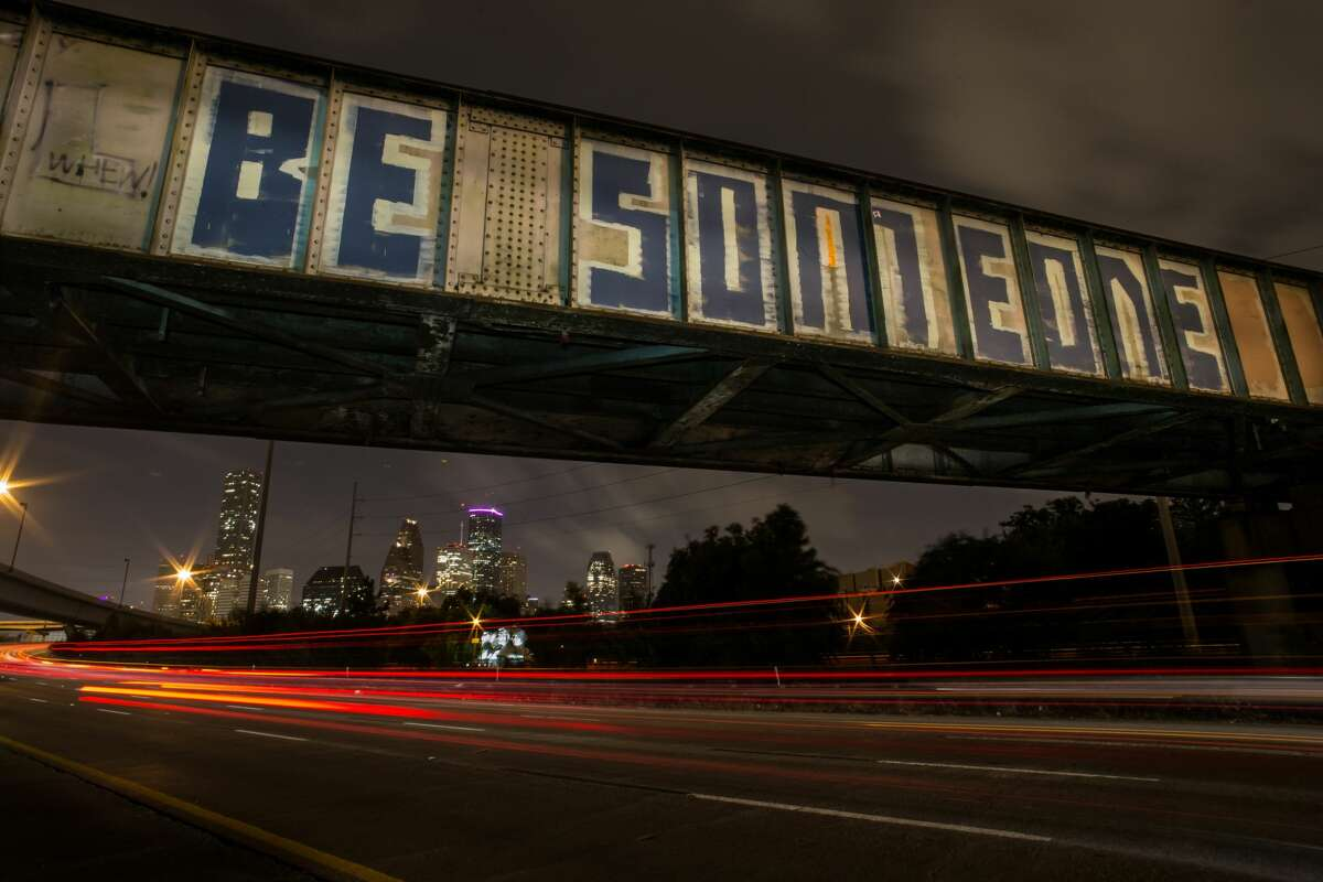 BURNING QUESTIONS: Frequently-asked questions about Houston from visitors With the recent news that nearly 22 million people have visited Houston from elsewhere, we look at just what they might be wondering when they come here. Like, why hasn't someone fixed the 'BE SOMEONE' thing? Check out the slideshow to see what questions visitors to Houston always seem to ask...