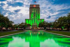 City Hall of Houston, Texas, USA at dusk