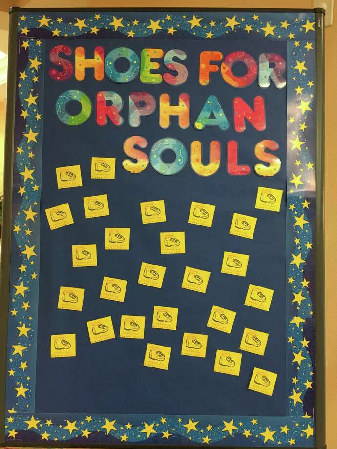 Senior citizens at Parkway Place are doing their part to help improve the lives of orphans by joining the Shoes for Orphan Souls shoe drive. It runs Feb. 12-28 and will collect shoes for orphans in both the United States and around the world. Photo: Courtesy Photo