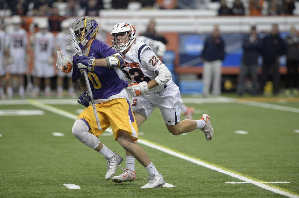 Syracuse beat UAlbany men's lacrosse in the 2016 NCAA Tourament, one of the 16 all-time meetings between the programs that have all been at the Carrier Dome. (Jenn March/Special to the Times Union)