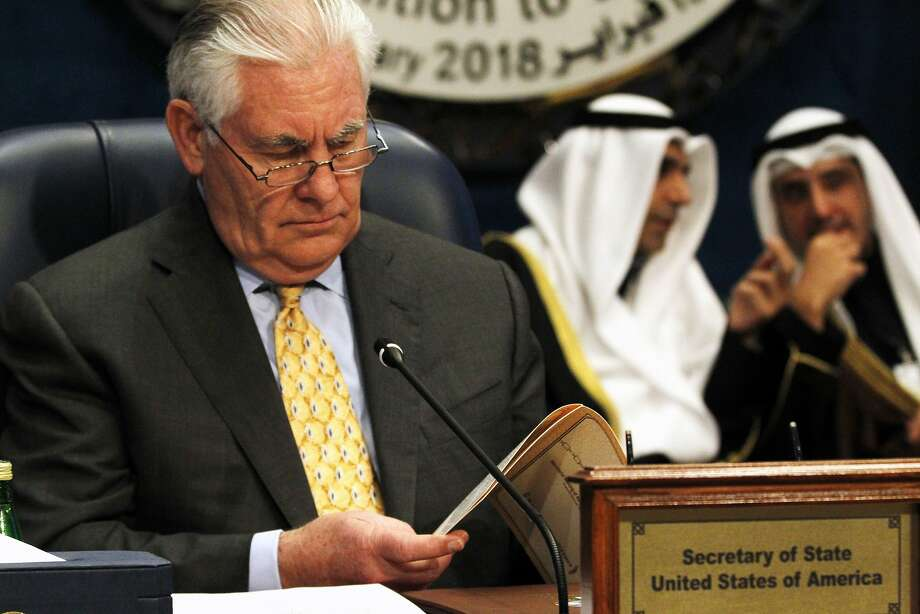 U.S. Secretary of State Rex Tillerson sounded the alarm at a coalition gathering in Kuwait City. Photo: Jon Gambrell, Associated Press