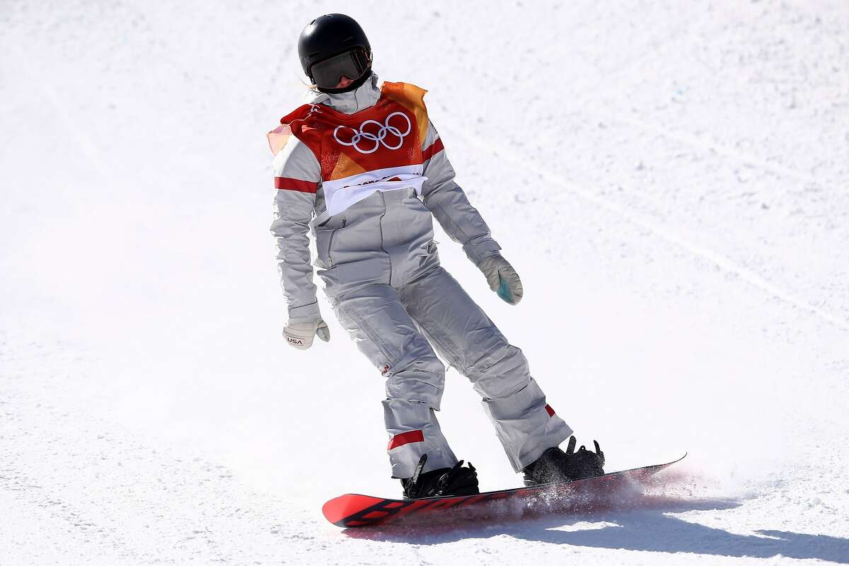 Julia Marino of the United States competes in the Snowboard Ladies' Slopestyle Final on day three of the PyeongChang 2018 Winter Olympic Games at Phoenix Snow Park on February 12, 2018 in Pyeongchang-gun, South Korea. (Photo by Cameron Spencer/Getty Images)