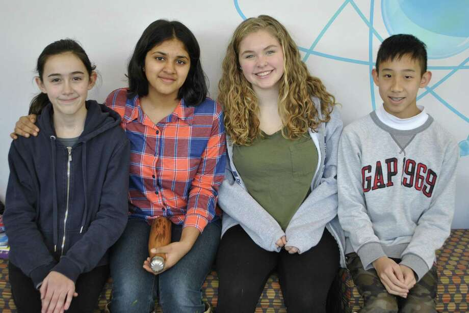 Paloma Lenz, Kushi Parikh, Stella Walker and Timothy Chen are among 10 Westside Middle School students who will participate in the 70th annual Connecticut Science and Engineering Fair in March. Photo: Contributed /Westside Middle School