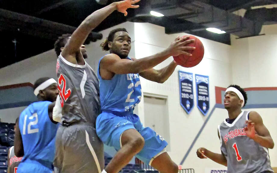 Tra Grubbs goes for a layup against Tomball on Feb. 7 at teh Carl A. Parker Multipurpose Center in Port Arthur. Lamar State College-Port Arthur will hold a homecoming pep rally at 1 p.m. Wednesday in the lobby of the campus student center. (LSCPA Athletics)
