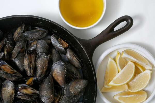 LuLu's Iron Skillet Roasted Mussels on Tuesday, September 19, 2017, in San Francisco, Calif.