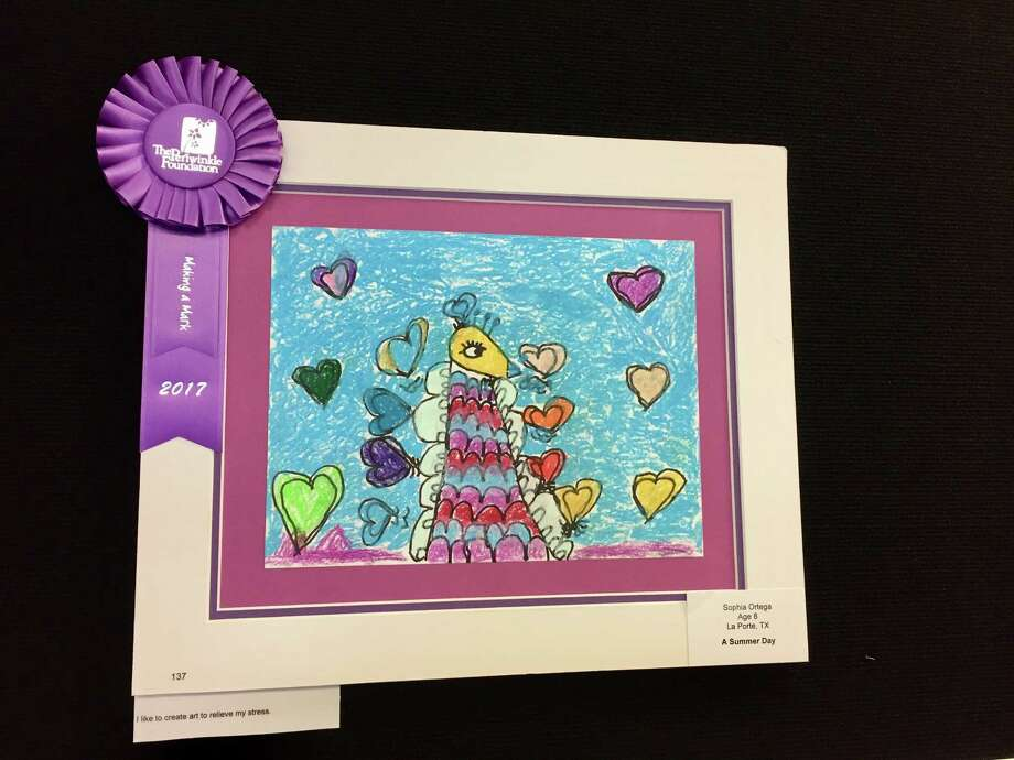 "Fort Bend County Libraries is displaying ""Making A MarkÂ,"" an exhibition of art and creative writing by children touched by cancer and blood disorders at Texas Children's Cancer and Hematology Centers, presented by The Periwinkle Foundation, through Feb. 28, in the Bohachevsky Gallery at George Memorial Library in Richmond. Photo: Fort Bend County Libraries"