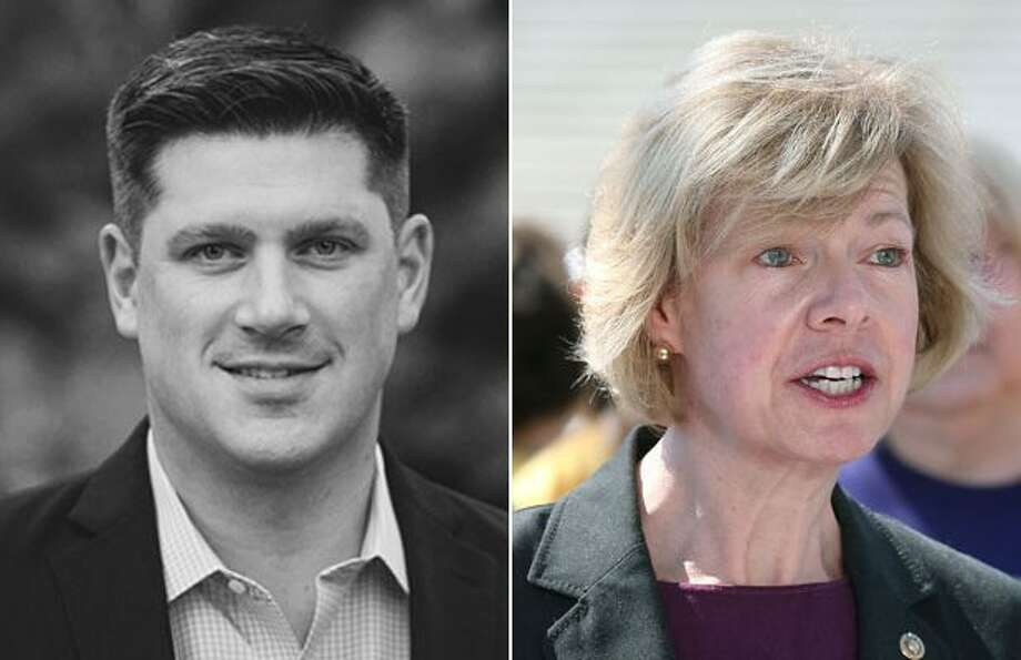 Donna and Michael Nicholson, the parents of Republican candidate Kevin Nicholson (left), each contributed $2,700 in December to the re-election campaign of incumbent Sen. Tammy Baldwin, D-Wis., according to Federal Election Commission filings.