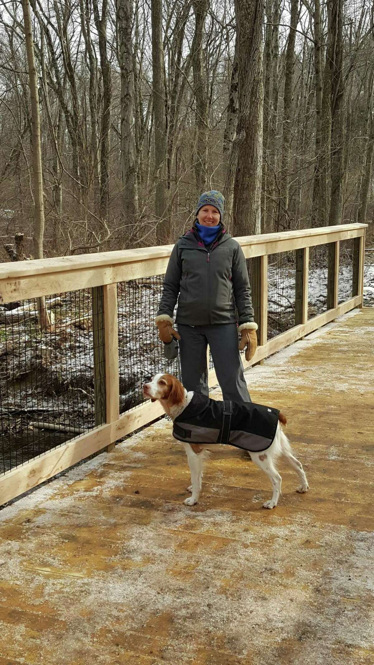 Lynn and Luc enjoying the boardwalk on latest section of the Wilton Loop.