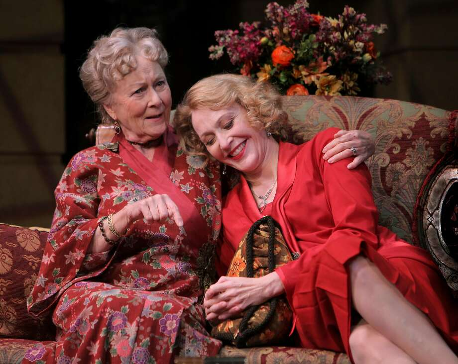 "Jan Maxwell (right), with Rosemary Harris in ""The Royal Family"" in 2009, was a Broadway star. Photo: SARA KRULWICH, NYT"